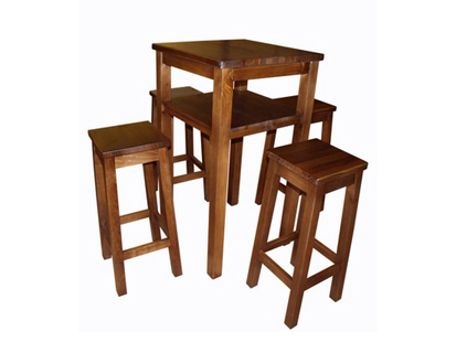 Mesas de madera mesas madera elegantes natural sillas for Mesas de madera bar